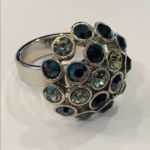 💐5/25 Bold large statement ring round crystal